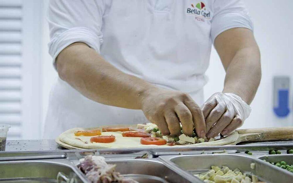 franquia de pizzaria-distribuição